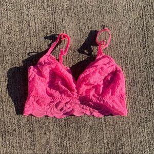 Victoria secret pink nwot lace bra bralette sexy
